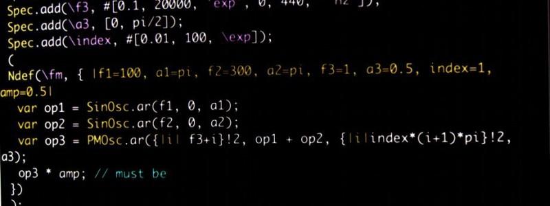 SuperCollider code